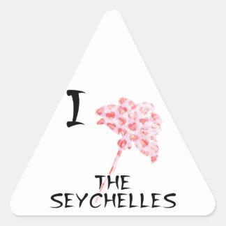 Sticker Triangulaire J'aime les Seychelles