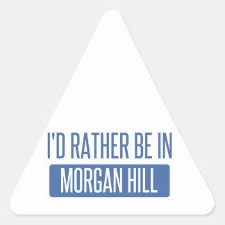 Sticker Triangulaire Je serais plutôt en colline de Morgan