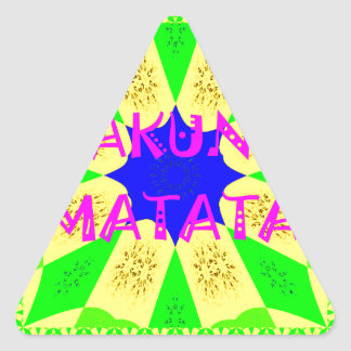 Sticker Triangulaire La plus défunte belle conception extraordinaire