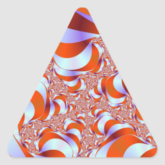 Sticker Triangulaire La rayure de sucrerie enracine l'autocollant de