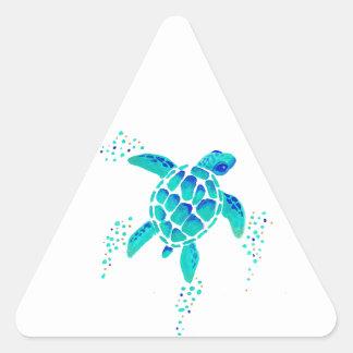 Sticker Triangulaire La tortue de Neptune