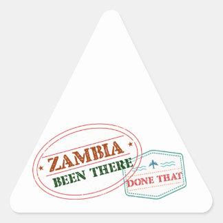 Sticker Triangulaire La Zambie là fait cela