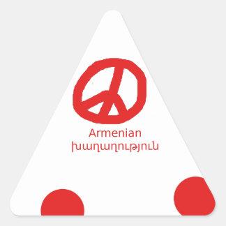 Sticker Triangulaire Langue et conception arméniennes de symbole de