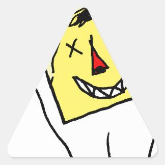 Sticker Triangulaire Lapin blanc