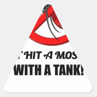 Sticker Triangulaire le moustique ne le frappent pas avec un réservoir