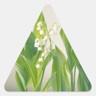 Sticker Triangulaire Le muguet