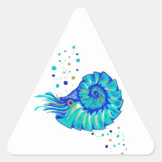 Sticker Triangulaire Le Nautilus de Neptune