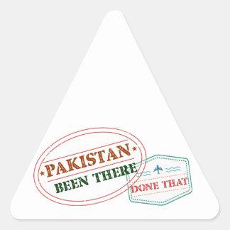 Sticker Triangulaire Le Pakistan là fait cela