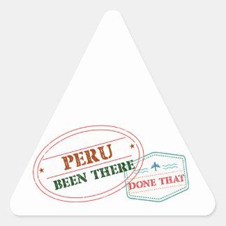 Sticker Triangulaire Le Pérou là fait cela