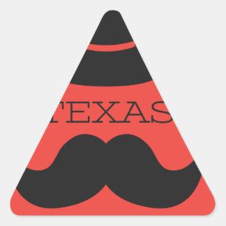 Sticker Triangulaire Le Texas en ROUGE