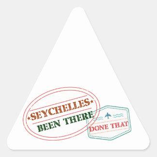 Sticker Triangulaire Les Seychelles là fait cela