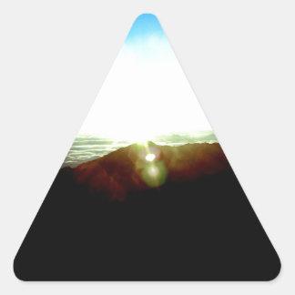 Sticker Triangulaire Lever de soleil nucléaire