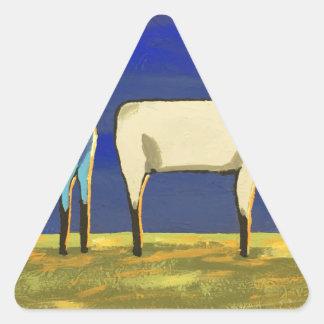 Sticker Triangulaire Lundi bleu