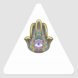 Sticker Triangulaire Main de Hamsa
