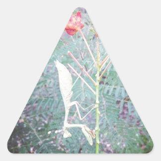Sticker Triangulaire Mante de prière