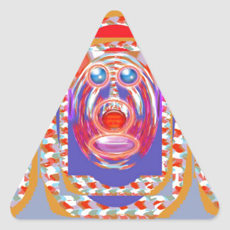 Sticker Triangulaire MONKEY ME ! ! Bande dessinée graphique