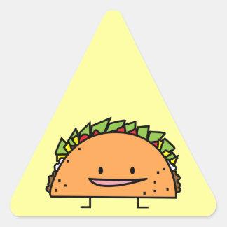 Sticker Triangulaire Nourriture heureuse de Mexicain de Salsa de viande