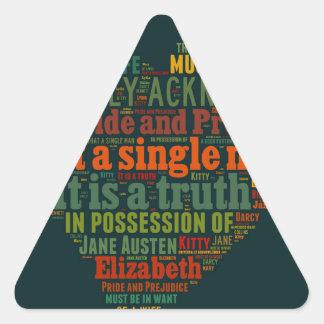 Sticker Triangulaire Nuage de mot de fierté et de préjudice