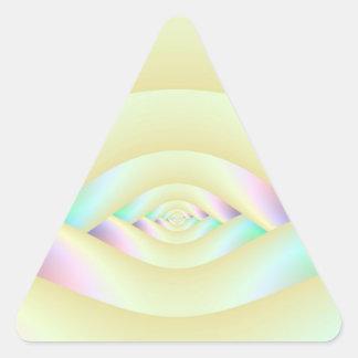 Sticker Triangulaire Oeil de l'autocollant de triangle de labyrinthe