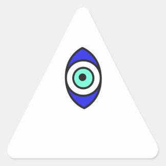 Sticker Triangulaire Oeil mauvais