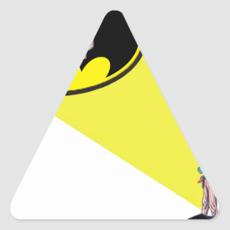 Sticker Triangulaire Oncle Sam