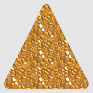 Sticker Triangulaire Or d'or