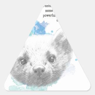 Sticker Triangulaire Pantalaimon, le démon de Lyra de ses matériaux