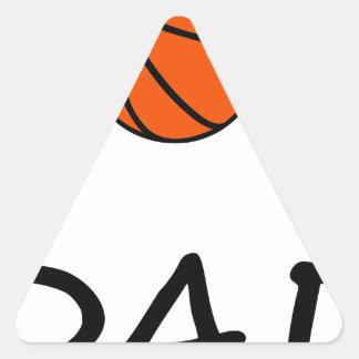 Sticker Triangulaire PAPA de basket-ball