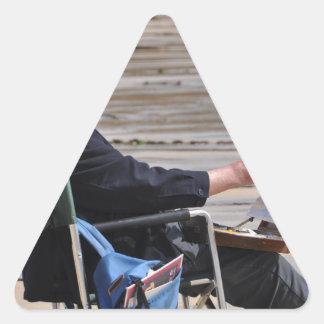 Sticker Triangulaire peintre de St Ives