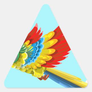 Sticker Triangulaire perroquet