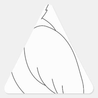 Sticker Triangulaire perroquet #3