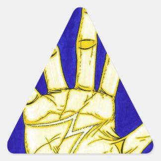 Sticker Triangulaire Personnes de M
