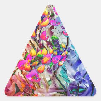 Sticker Triangulaire plante dynamique