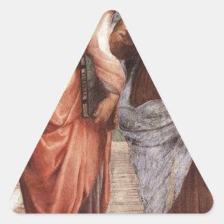 Sticker Triangulaire Platon et Aristote