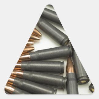 Sticker Triangulaire point creux des munitions 7.62x39mm de munitions