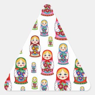 Sticker Triangulaire poupées russes
