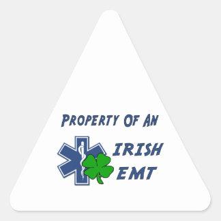 Sticker Triangulaire Propriété irlandaise d'EMT