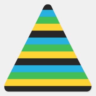 Sticker Triangulaire Rayures de drapeau de la Tanzanie