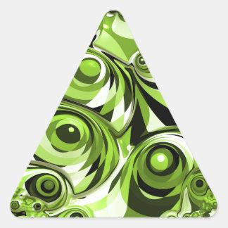 Sticker Triangulaire Résumé vert