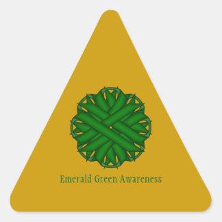 Sticker Triangulaire Ruban de fleur de vert vert