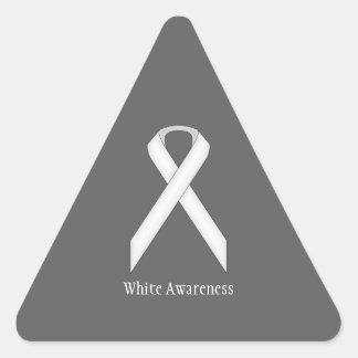 Sticker Triangulaire Ruban standard blanc
