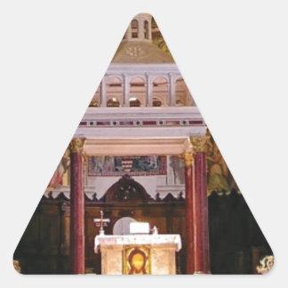 Sticker Triangulaire saint changez dans l'église