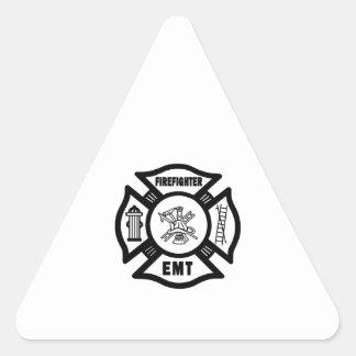 Sticker Triangulaire Sapeur-pompier EMT