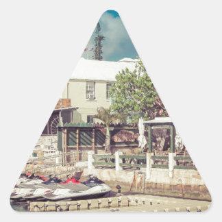Sticker Triangulaire Ski de jet des Bermudes