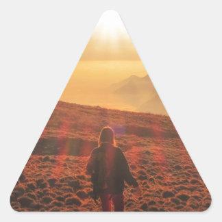 Sticker Triangulaire Soleil - aube ou crépuscule