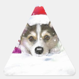 Sticker Triangulaire Son début à ressembler beaucoup à Noël