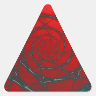 Sticker Triangulaire Spirale de fil sur l'autocollant rouge de triangle