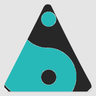 Sticker Triangulaire Symbole de YIN YANG