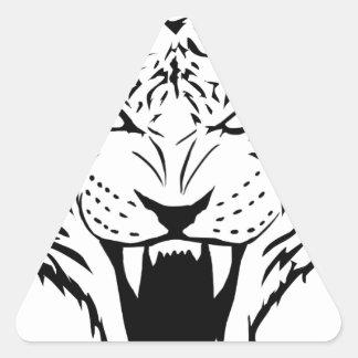 Sticker Triangulaire tigre