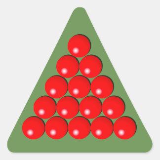 Sticker Triangulaire Triangle de billard - boules rouges
